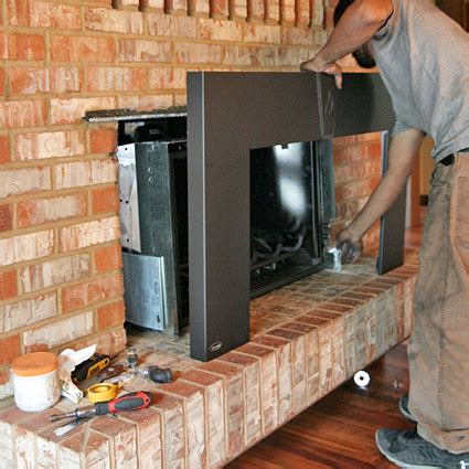 installing a gas fireplace insert fireplace remodels fireplace makeovers fireplace