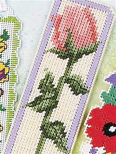 Plastic Canvas - School Days - Delicate Floral Bookmark
