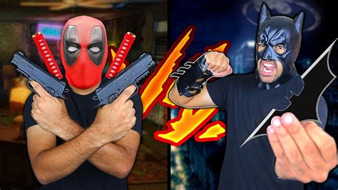 Deadpool Weapons Vs Batman Weapons Death Battle! (comic