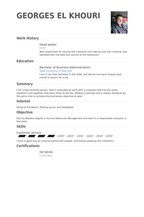 Hostess Resume Sle by Host Resume Sle Restaurant Hostess Exle Waitress Report552 Web Fc2