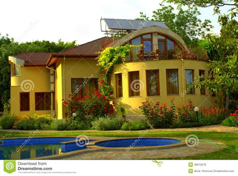 Beautiful House With Vibrant Color In Manali India Royalty