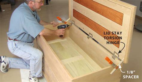 wood furniture design software  blanket chest lid