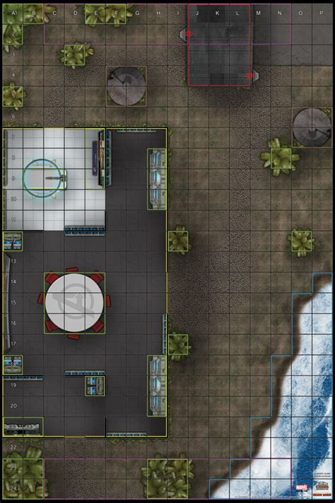 heroclix maps printable map avengers marvel assemble compound island