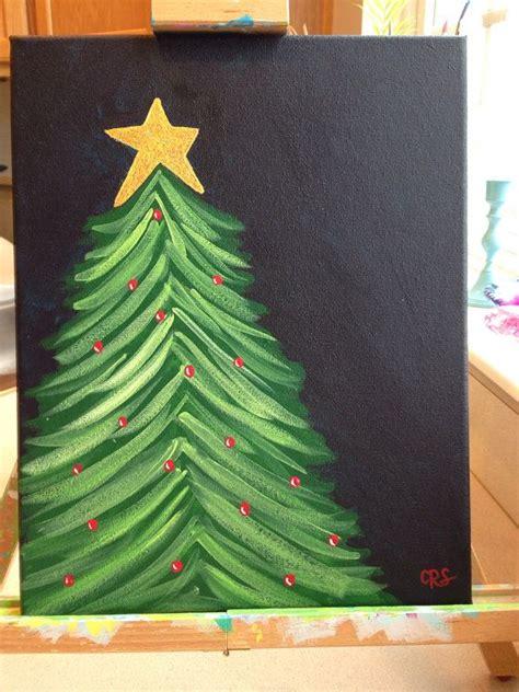 original holiday glitter christmas tree painting christmas