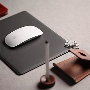 Leather Mouse Pad with Magnetic Cable Management – CKIE