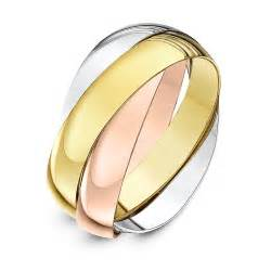 russian wedding ring 9ct three colour gold 4mm russian wedding ring