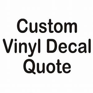 Quotation request for custom vinyl automotive lettering for Custom vinyl lettering decals