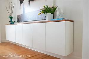fauxdenza: floating sideboard credenza buffet sideboard Pinterest Cabinets, House and Ikea