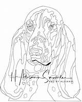 Hound Basset sketch template