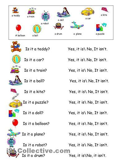 toys vocabulary practicing