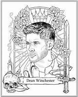Coloring Supernatural Winchester Dean Colorir Desenhos Adult Printable Sheets Jensen Disney Sobrenatural Colouring Sample Bits Pieces January Resultado Imagem Official sketch template
