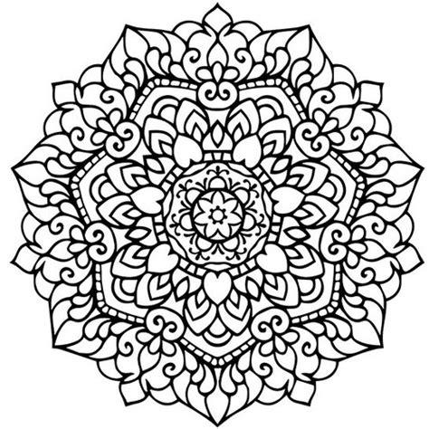 mandala adult coloring page printable  ot