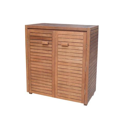 armoire basse en bois l 90 x l 48 x h 100 cm autres marques jardinerie truffaut