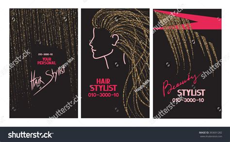 Hair Stylist Business Cards Abstract Gold Stock Vector Business Card Ideas For Fitness Yoga Studio Visiting With Holder Best Printing Website Make Your Own Wallet Hot Stamping Cards Mockup Services Foil