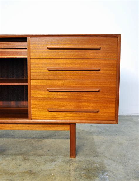 Teak Sideboard Buffet by Select Modern Dyrlund Teak Credenza Bar Sideboard