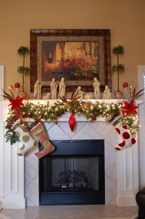 christmas fireplace mantel decoration ideas interior god