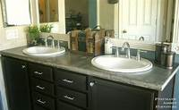bathroom countertops with sink DIY Concrete Countertop With Sink Openings | Pneumatic Addict
