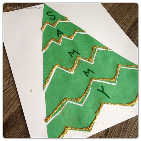 preschool christmas projects name puzzles how wee learn