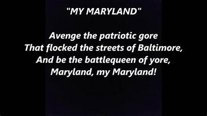 Maryland Song State Lyrics Usa Einfon Words