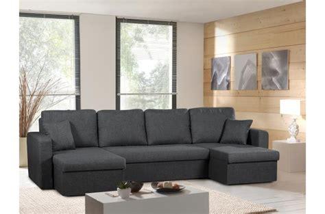 tissu pour canapé pas cher canapé d 39 angle convertible 5 places tissu gris libereco