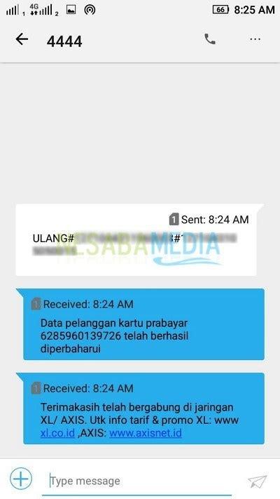 registrasi ulang kartu xl  anti gagal terbaru