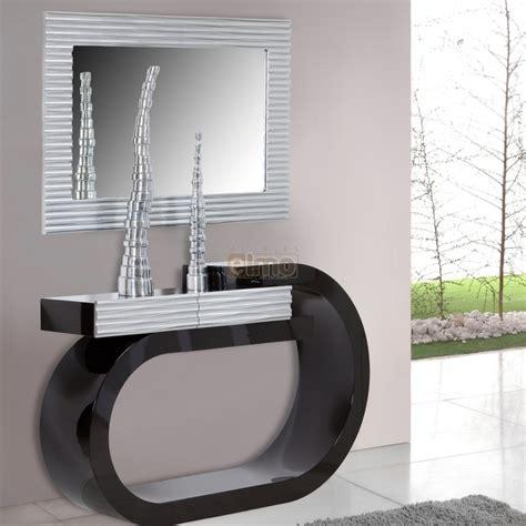 meubles rangement cuisine console design moderne laquée bicolore noir et argent 1 tiroir