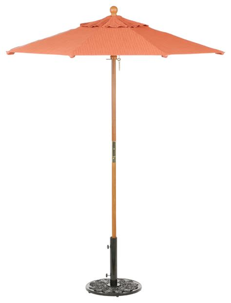 6 ft octagon sunbrella market umbrella dupione papaya