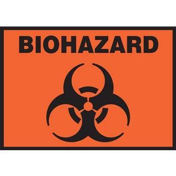 safety label biohazard symbol    adhesive