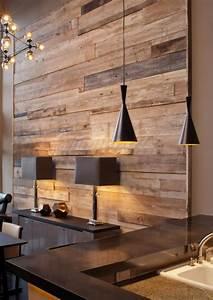 Mur En Bois Intérieur Decoratif : mur d coratif en bois l 39 habis ~ Teatrodelosmanantiales.com Idées de Décoration