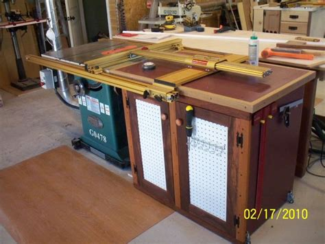 Table Saw Extension Cabinet  Reader's Gallery Fine