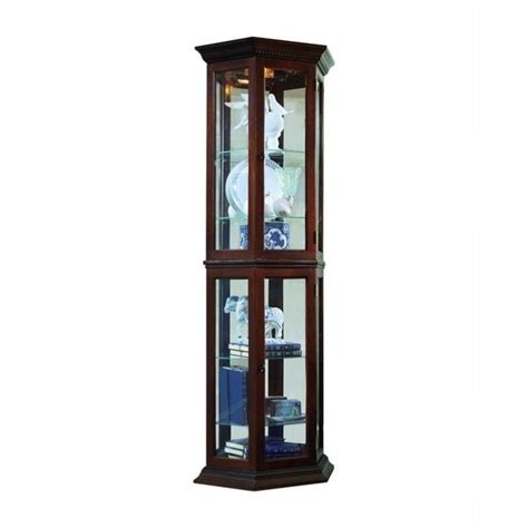 Pulaski Cambridge Display Cabinet by Pulaski Curios Display Cabinet Traditional Wall In Rich
