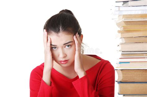 stressed student stock photo image  homework