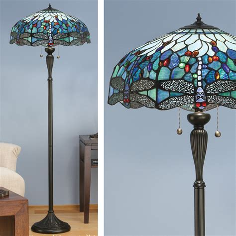 Blue Dragonfly Floor Lamp