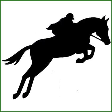 Sticker saut de cheval avec cavalier - Animaux/Chevaux ...