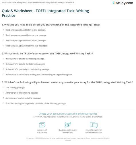 quiz worksheet toefl integrated task writing practice