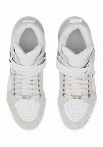 Jimmy Choo Men 39 S High Sneakers In White Calf Leather