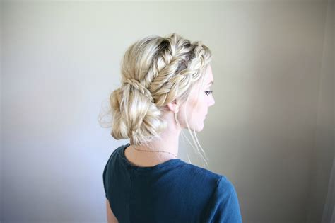 mixed braid bun cute girls hairstyles