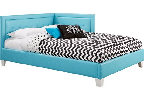 blue 4 pc corner bed beds colors