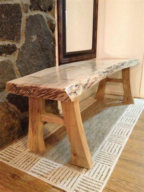 natural edge maple bench  edge furniture rustic log