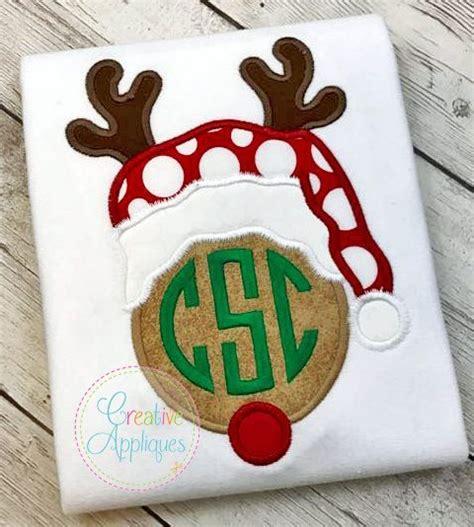 rudolph reindeer monogram applique creative appliques