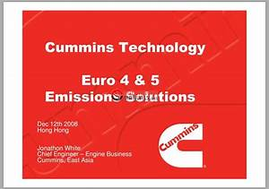 Cummins Technology Euro 4 And 5 Emissions Solutions