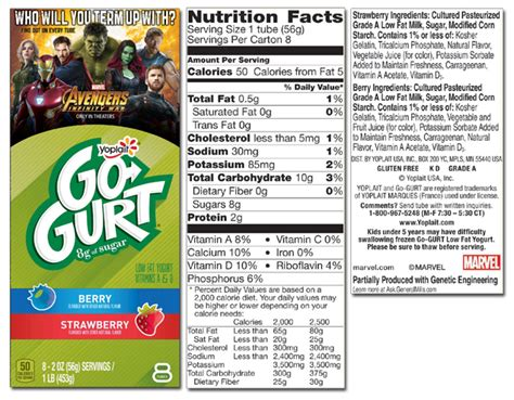 gogurt nutrition label besto blog