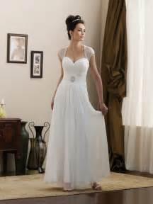 simple informal wedding dresses simple strapless cap sleeves beaded chiffon informal wedding dress prlog
