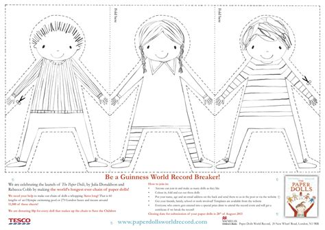 Paper Doll Template Paper Doll Chain Template Search Crafty