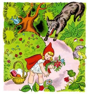 si krudung merah dan serigala jahat dongeng