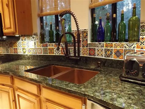 mexican tile backsplash mexican tile backsplash cabinet hardware room