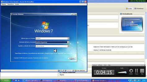 como instalar windows  en virtualbox links en la