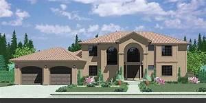 Mediterranean House Plans, Luxury House Plans, 10042