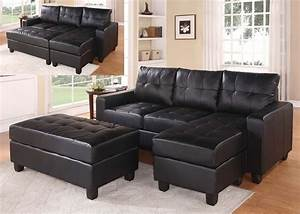 Faux leather sectional sofa with chaise buchannan faux for Buchannan faux leather sectional sofa with reversible chaise