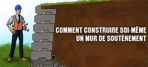 Analyser Soi Meme Sa Terre : comment construire un mur de sout nement en b ton ~ Premium-room.com Idées de Décoration